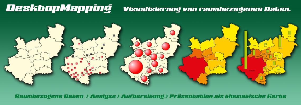 Desktop Mapping, DesktopMapping, Geo-Analyse, Mapping, Kartographie, thematische Kartografie, Daten-Aufbereitung, Daten-Analyse, Daten-Visualisierung, thematische Karte, Karten, Themakarte, Themakarten, Standort-Visualisierung, Analyse, Desktop, Mapping, Aufbereitung, thematische Kartographie