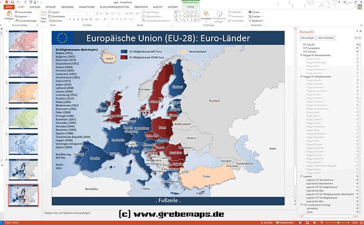 Europakarte PowerPoint (EU-28)