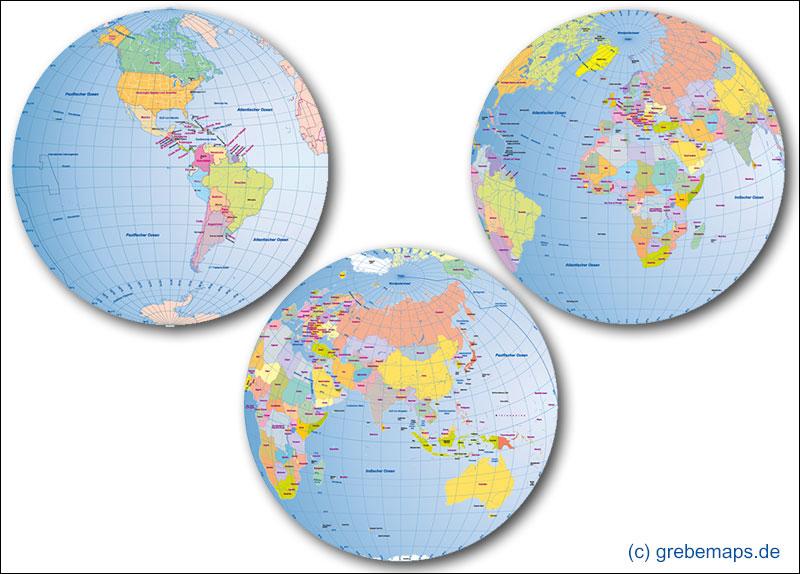GLOBEN-BUNDLE (Vektorkarten)