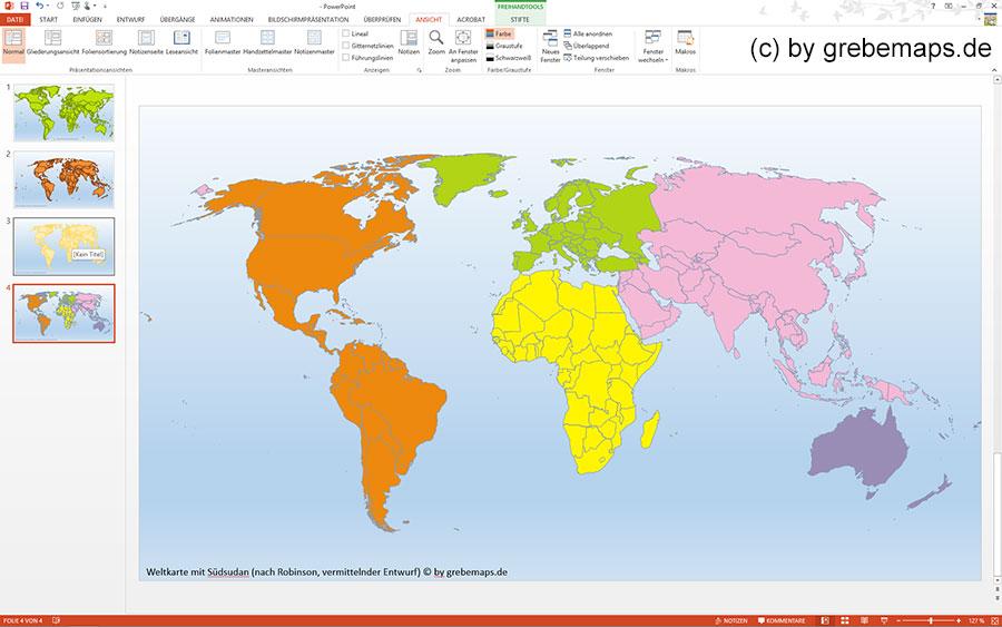 Weltkarte PowerPoint