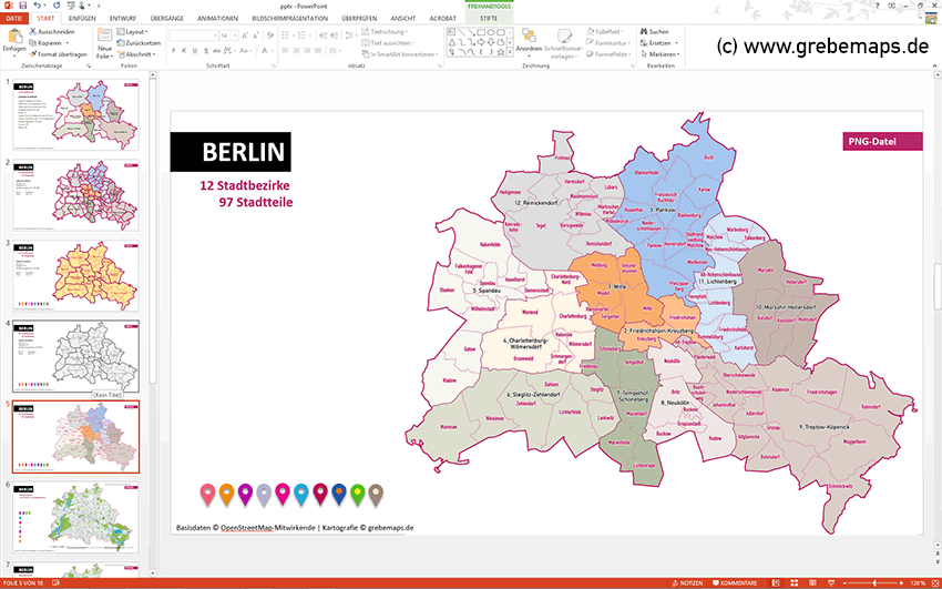 Karte Berlin PowerPoint