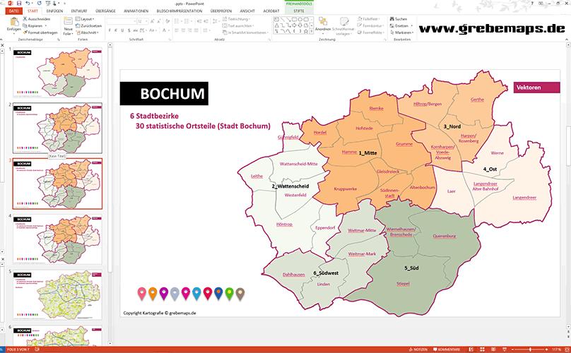 Karte Bochum PowerPoint