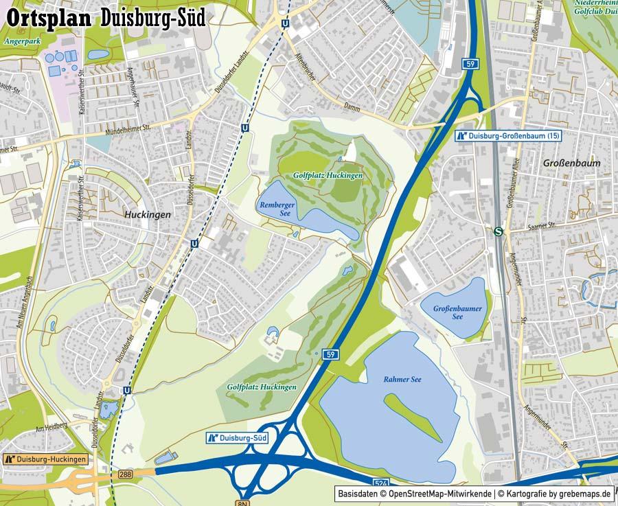 Ortsplan erstellen, Ortsplan Duisburg-Süd, Stadtplan erstellen, Stadtplan Duisburg-Süd, Karte erstellen aus OpenStreetMap-Daten, Basiskarte erstellen, Kartografie erstellen, Kartographie erstellen, Karte für Illustrator erstellen, AI-Datei, Vektorgrafik, Vektokarte, Vektordaten, Kartengrafik, editierbar, bearbeitbar