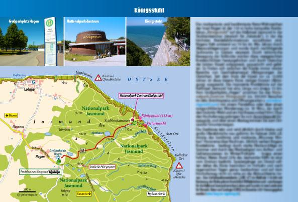 Touristische Karte Königsstuhl