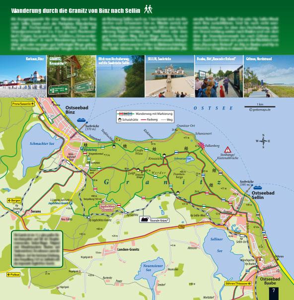 Touristische Karte Granitz