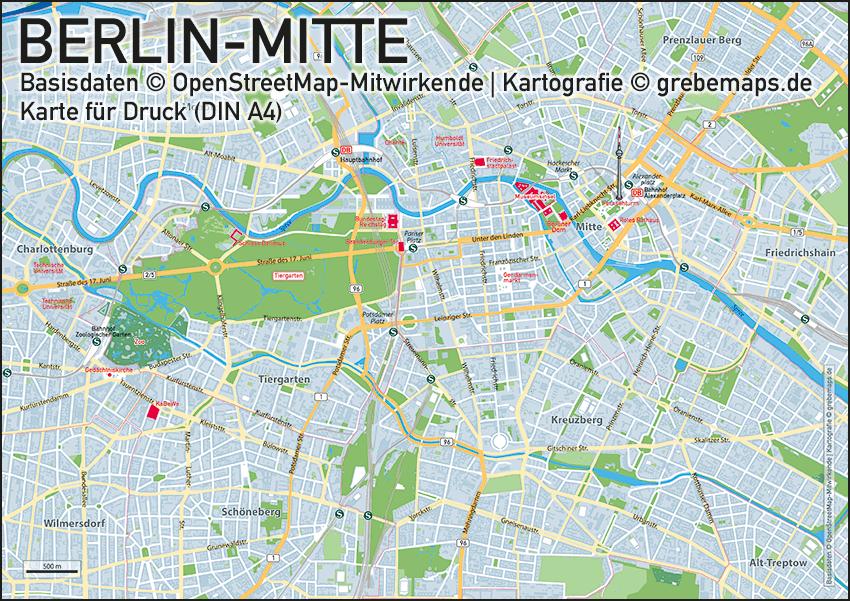 Karte BerlinMitte Grebemaps Kartographie Anfahrtsskizzen - Berlin mitte map