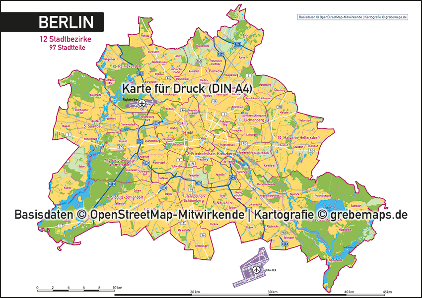Karte Berlin Übersicht