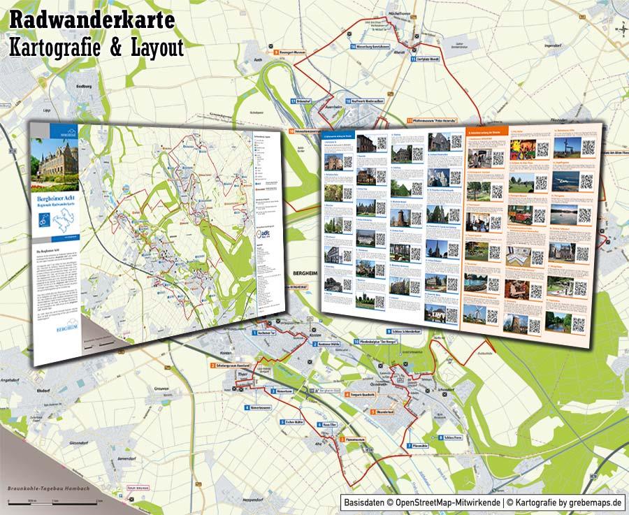 radwanderkarte erstellen, karte erstellen aus kostenlosen openstreetmap-daten, kartografische Aufbereitung, Radkarte, landkarte erstellen, touristische Karte erstellen, Karte für Tourismus erstellen, Tourismus-Karte erstellen