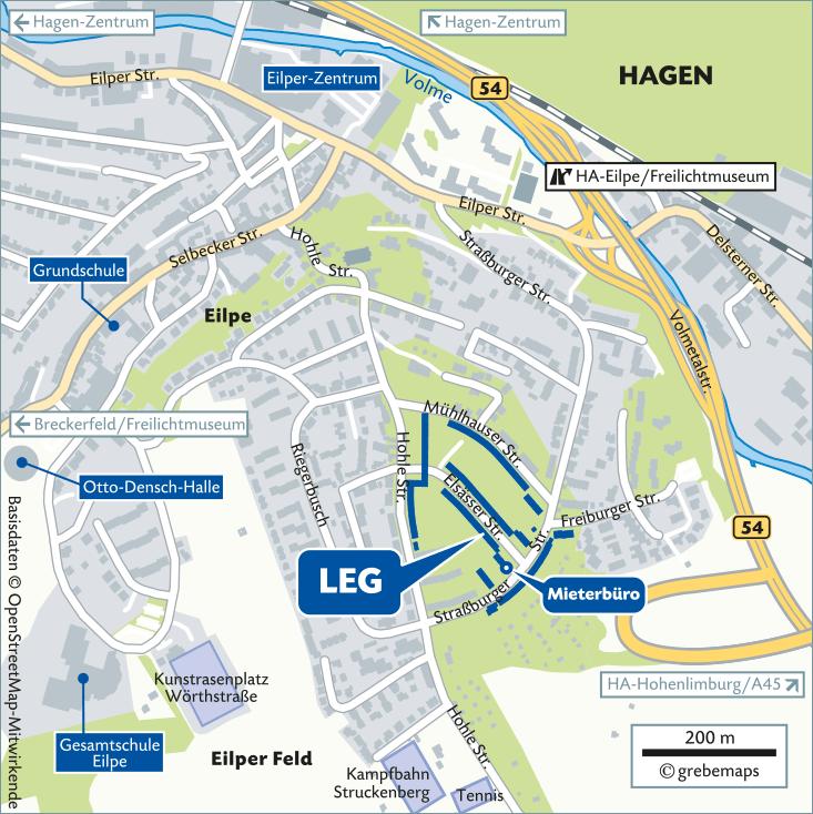 Karte Hagen-Eilpe (LEG)