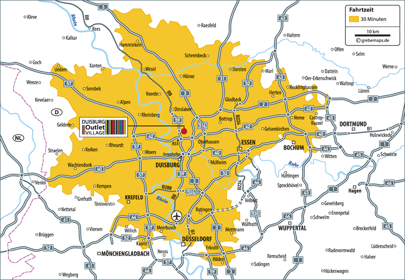 Karte Duisburg