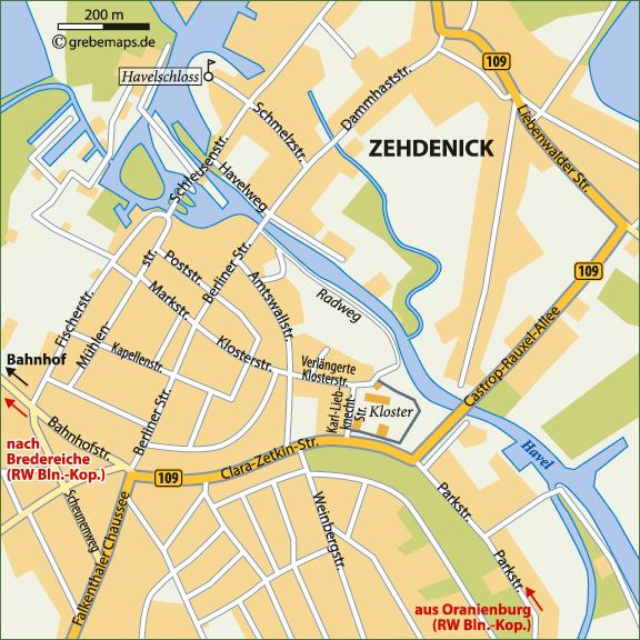 Karte Zehdenick