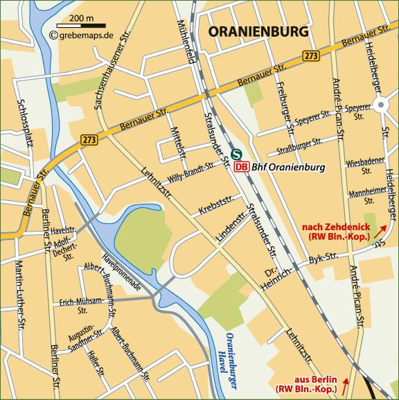 Karte Oranienburg