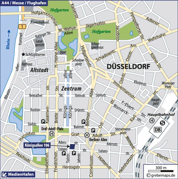 Düsseldorf Karte.Karte Düsseldorf Grebemaps Kartographie