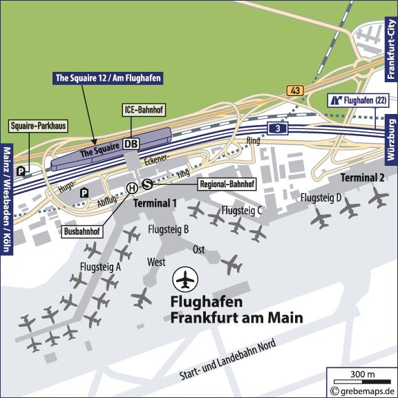 Gran Canaria Karte Flughafen.Karte Frankfurt Am Main Flughafen Grebemaps Kartographie