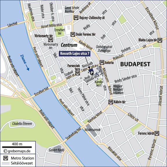 Karte Budapest