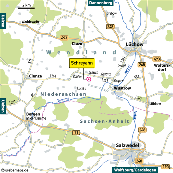 Karte Schreyahn