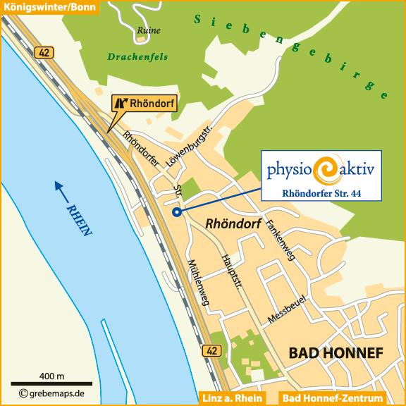 Karte Bad Honnef-Rhöndorf