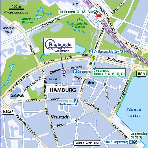 Karte Hamburg (Dammtorwall)
