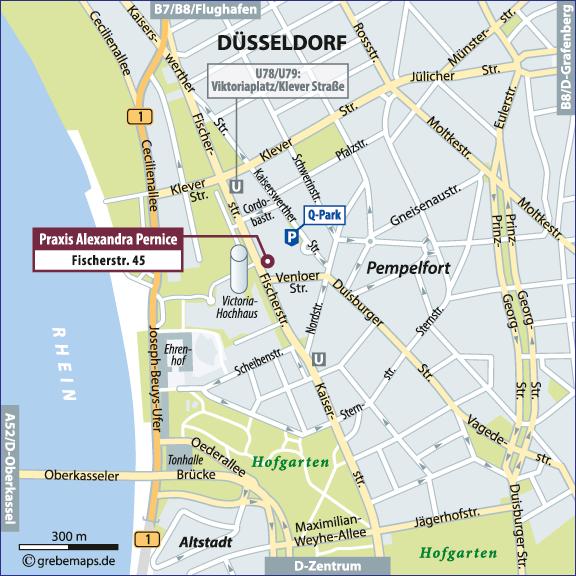 Karte Düsseldorf (Fischerstr.)