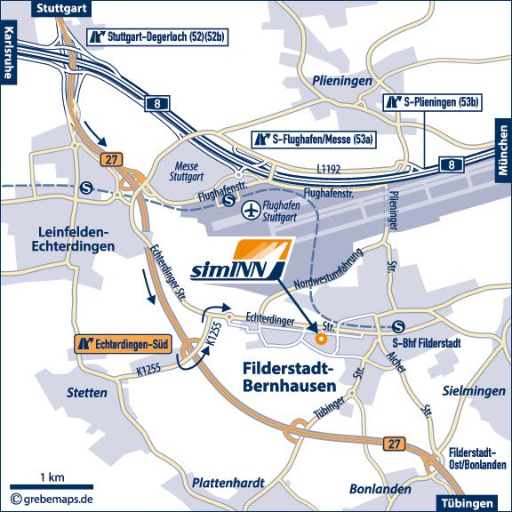 Karte Stuttgart Flughafen