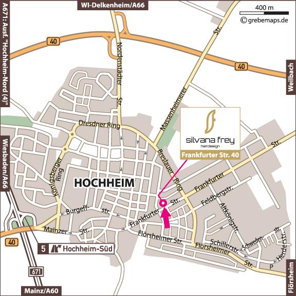 Karte Hochheim