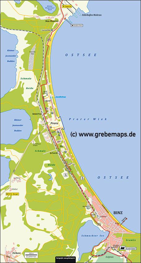 Karte Prora