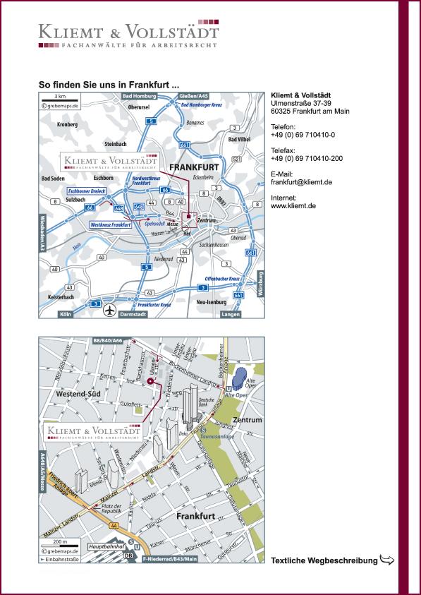 Karte Frankfurt (KV)