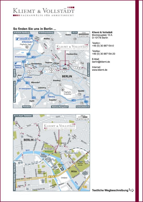 Karte Berlin (KV)