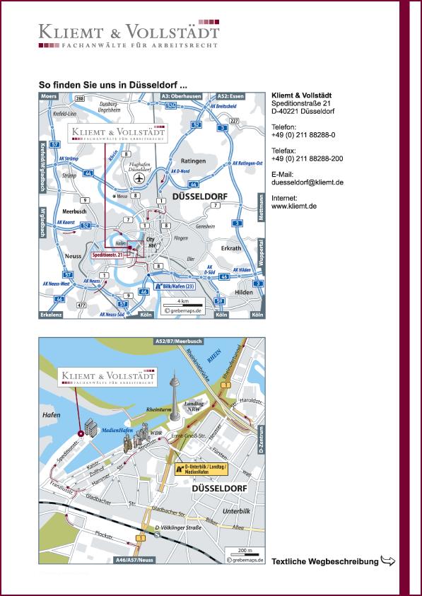 Karte Düsseldorf (KV)
