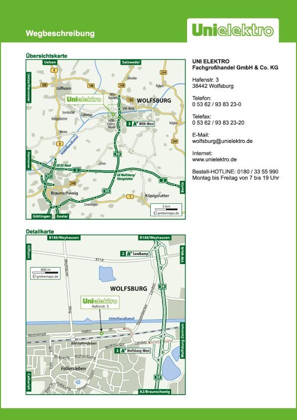 Karte Wolfsburg (UE)
