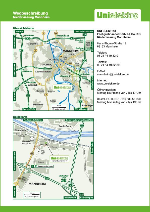 Karte Mannheim (UE)
