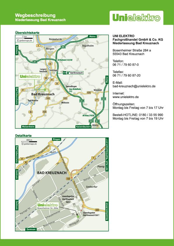 Karte Bad Kreuznach (UE)
