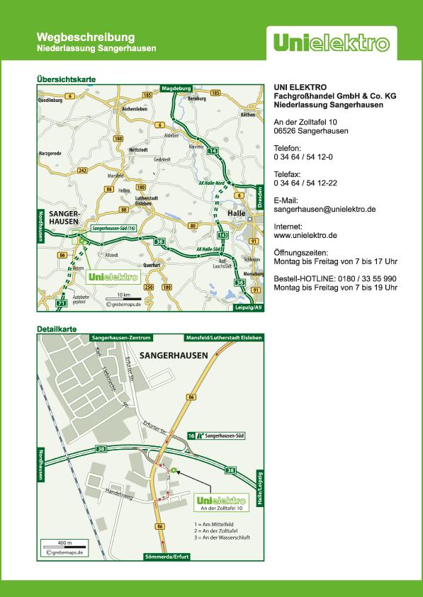 Karte Sangerhausen (UE)