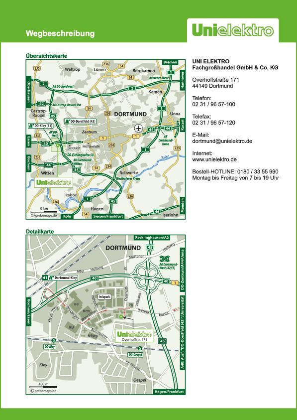 Karte Dortmund (UE)