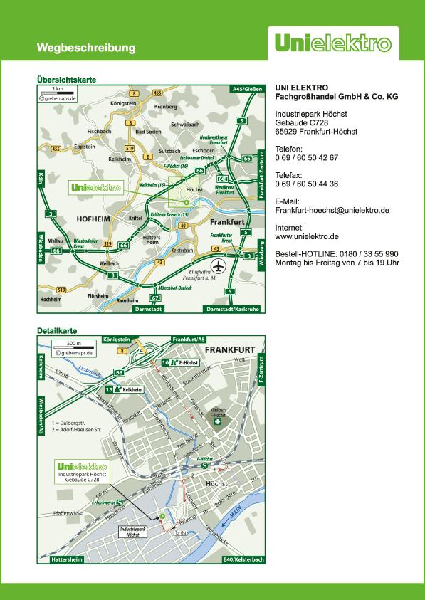 Karte Frankfurt-Höchst (UE)