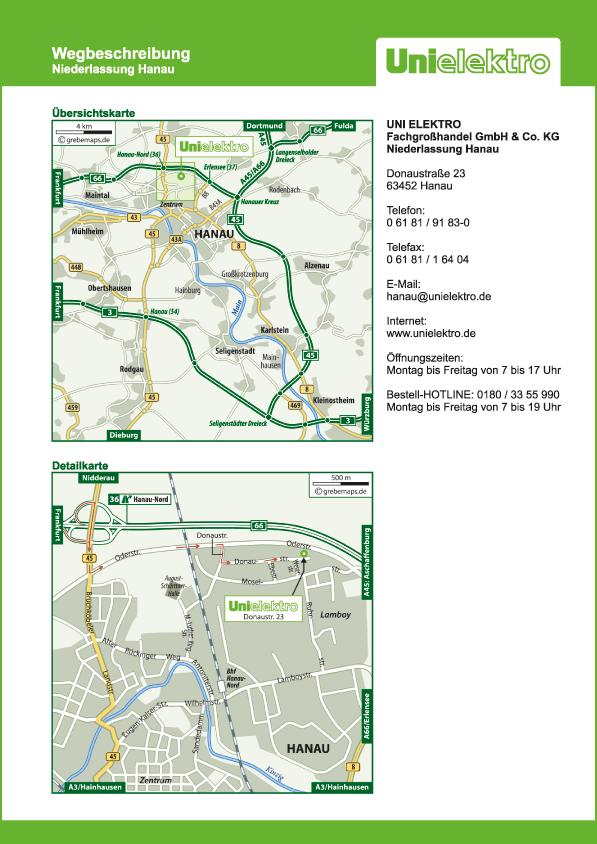 Karte Hanau (UE)