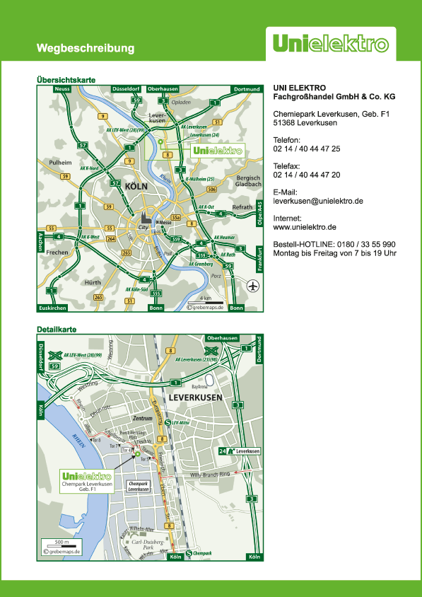Karte Leverkusen (UE)