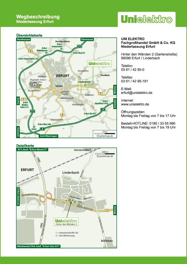 Karte Erfurt / Linderbach (UE)