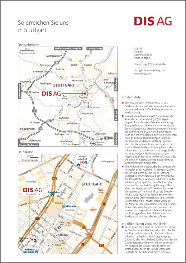 Karte Stuttgart (DIS AG)