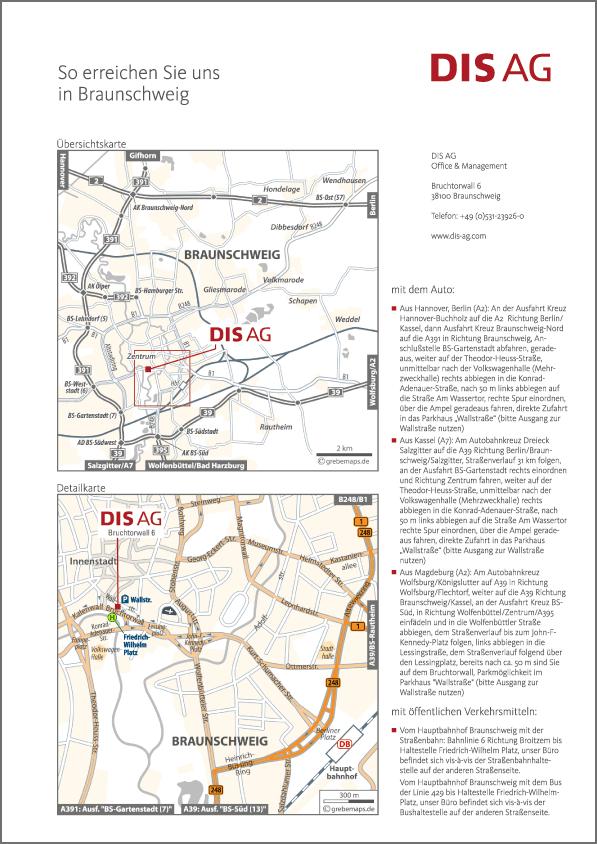 Karte Braunschweig (DIS AG)