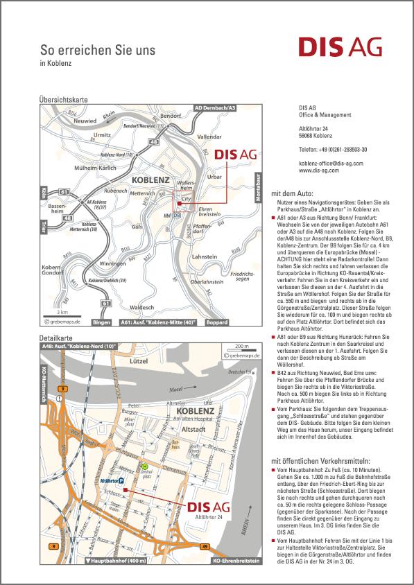 Karte Koblenz (DIS AG)