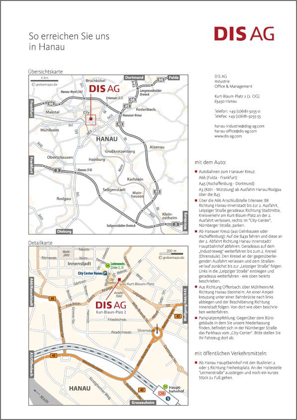 Karte Hanau (DIS AG)