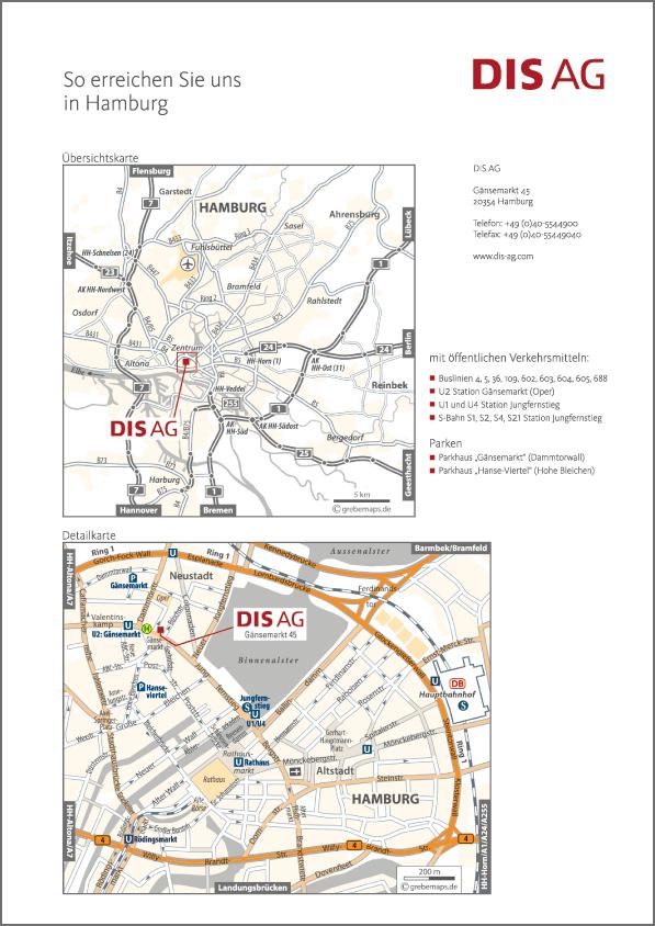 Karte Hamburg (DIS AG)