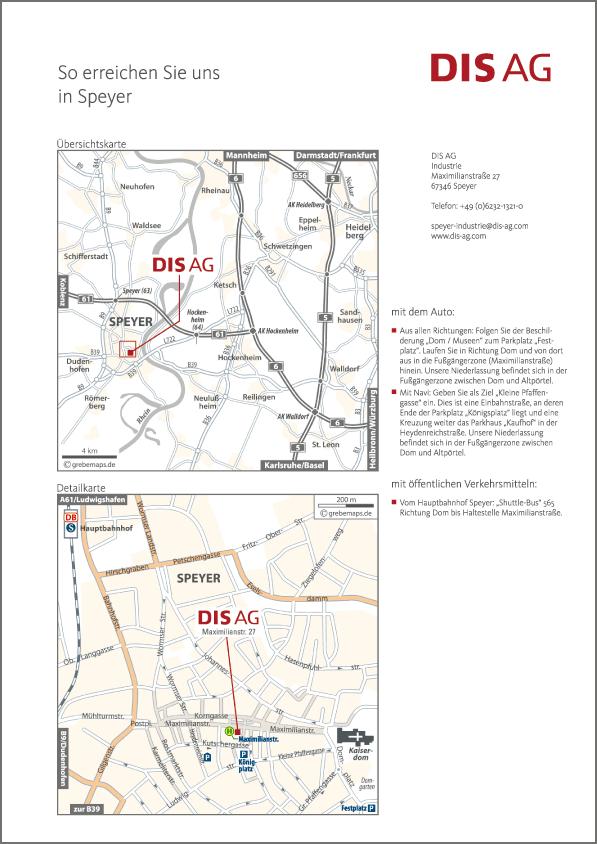 Karte Speyer (DIS AG)