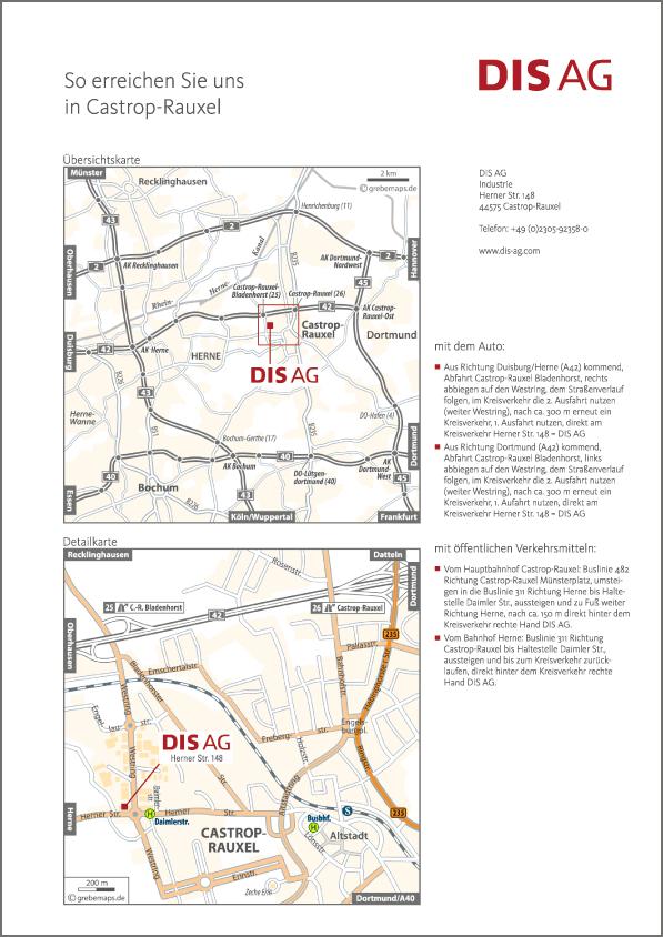 Karte Castrop-Rauxel (DIS AG)