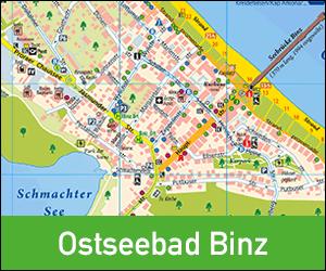Ortsplan Ostseebad Binz