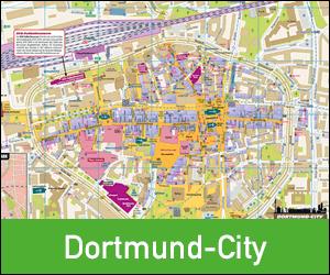 Stadplan Dortmund-City drucken, Ortsplan Dortmund City, Karte Dortmund City