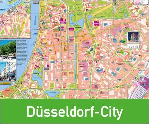 Stadplan Düsseldorf-City drucken, Ortsplan Düsseldorf City, Karte Düsseldorf City