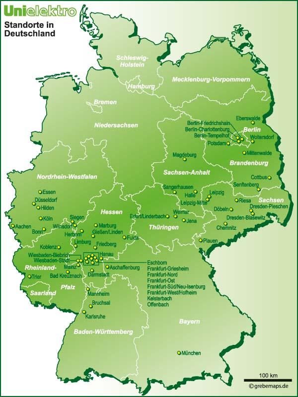 Deutschland-Karte (Uni Elektro)