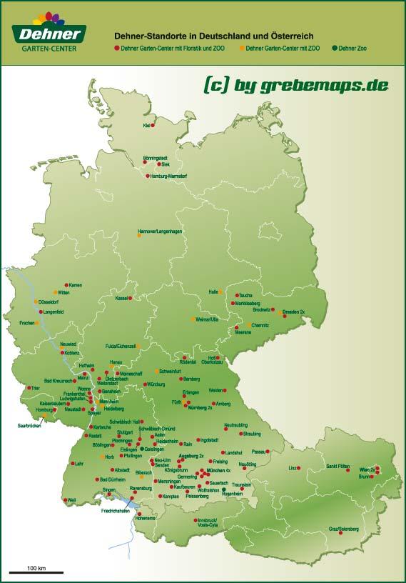 Deutschlandkarte (Dehner)